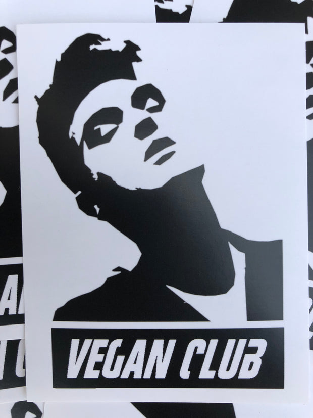 12 Vegan Club Morrissey Stickers