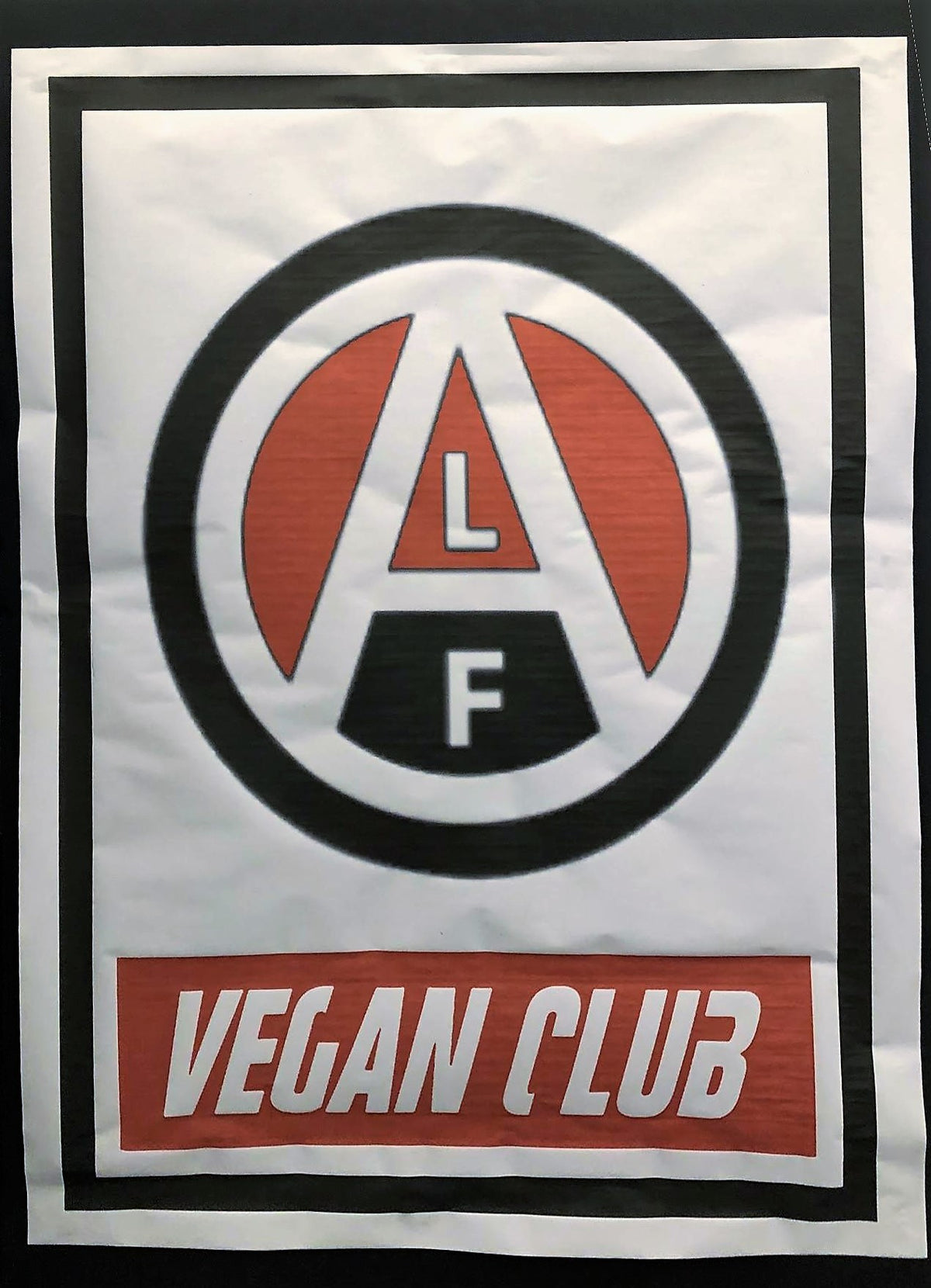 Street Art NewsPrint Poster Vegan Club featuring ALF Animal Liberation Front Logo