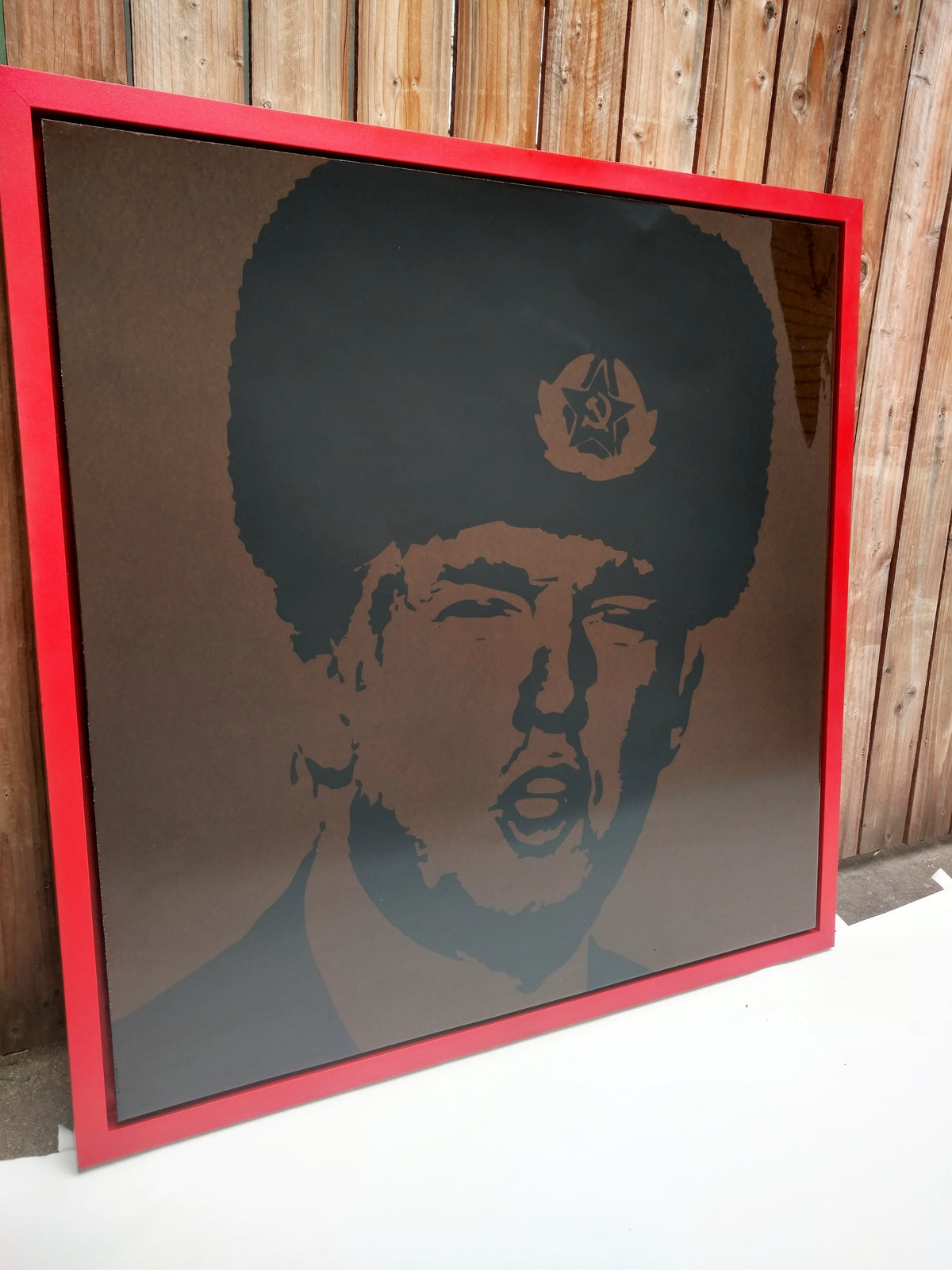"48x48 Original Artwork Donald Trump in ""From Russia, With Love"" by L3F0u - model @cindyspursuit"