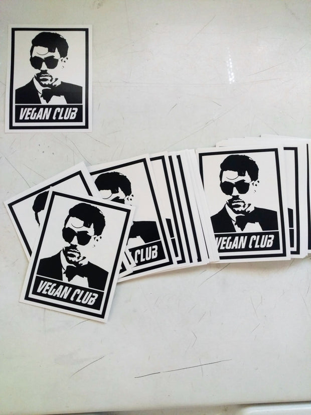 Vegan Club Stickers with Davey Havok - Set of 12