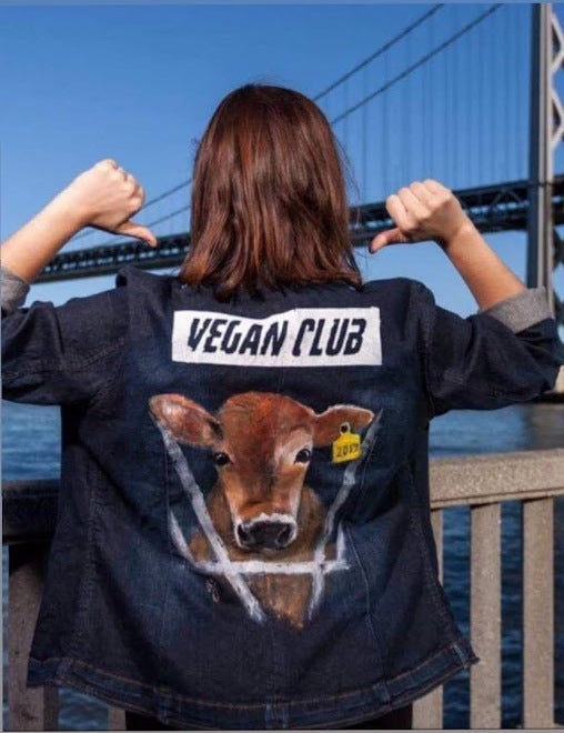 Brandi Jae Collab Jean Jacket feat a Cow