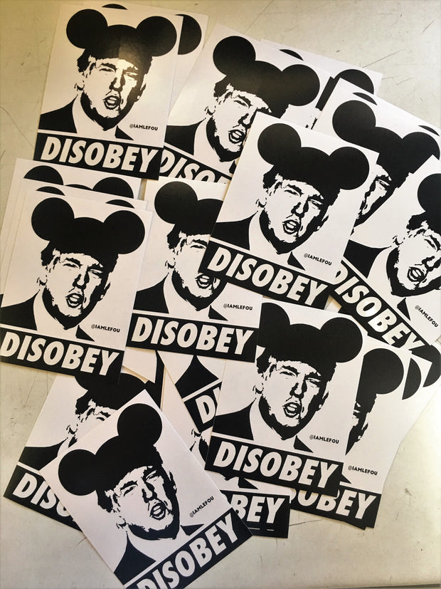 Disobey Trump Stickers - Set of 12