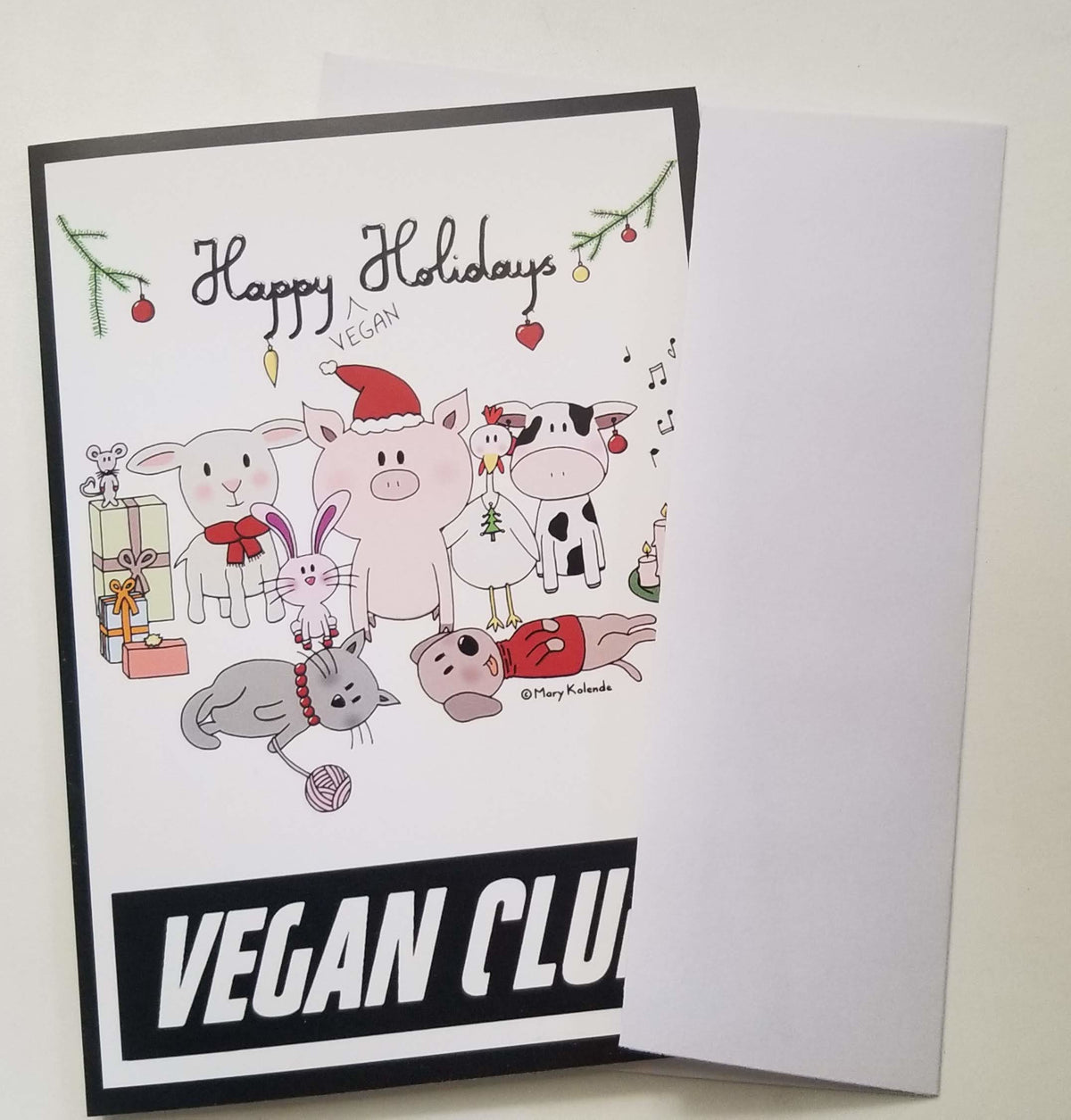 Happy Vegan Holiday Cards for Christmas & Hanukkah
