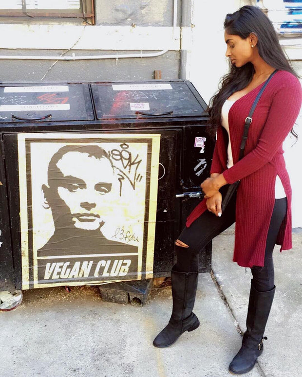 Street Art NewsPrint Poster Vegan Club Matt Skiba signed L3F0u @misskalefornia @audrey.hm @john.karas @artivismgalleries @_actions_not_words