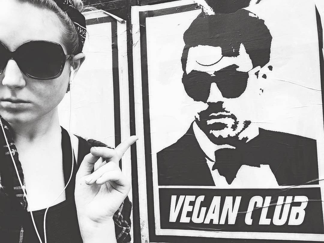 NewsPrint Poster Vegan Club w Davey Havok DreamCar