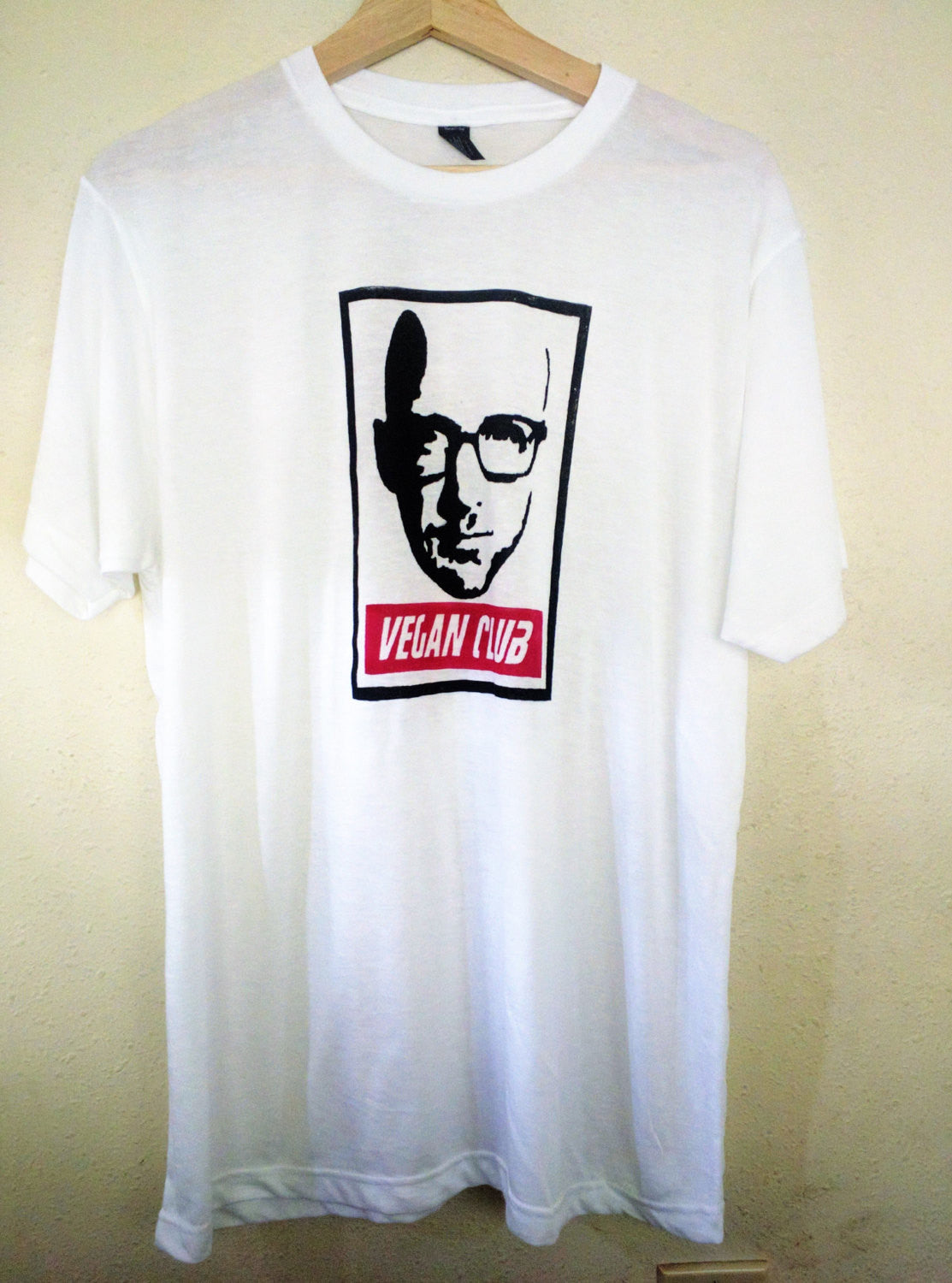 "Organic Made in USA T-shirt ""Vegan Club"" featuring Moby"
