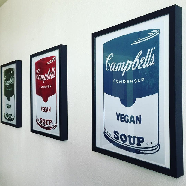 Limited Edition of 150 Prints of Green, Red & Blue Campbell's Vegan Soup Signed L3f0u  (1 of 3) - photo by @sheisvegan_heisnot
