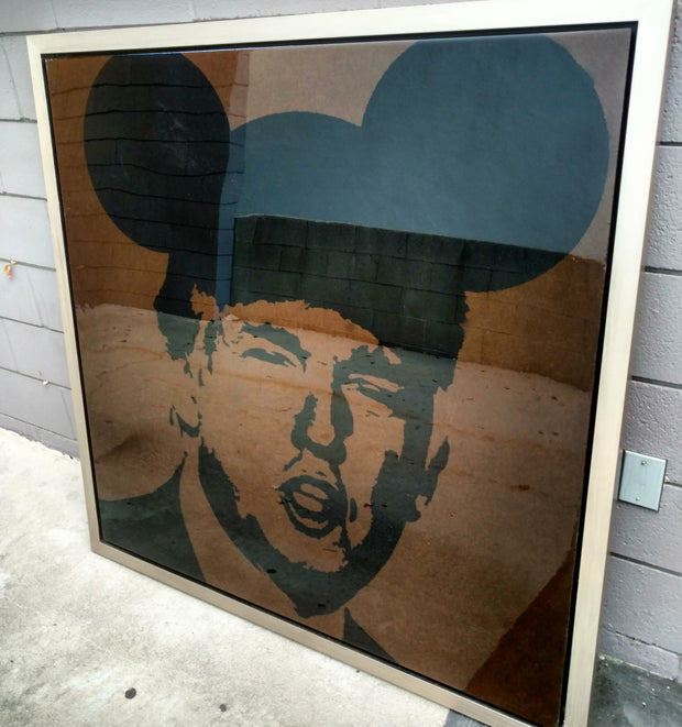 "SOLD - 48x48 Original Artwork Donald Trump in ""Operation Mickey Mouse"" by L3F0u"