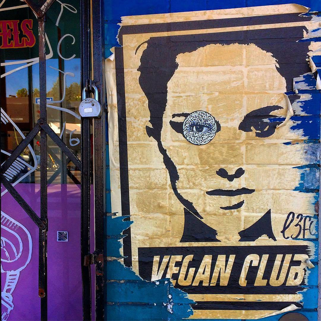 NewsPrint Poster Vegan Club Natalie Portman