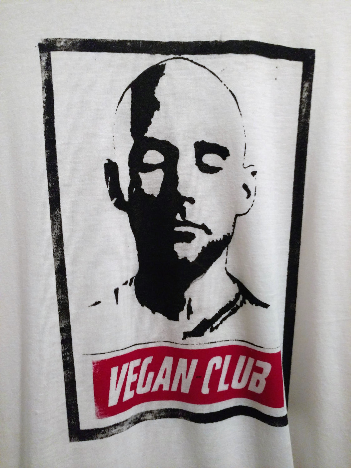 "Unisex T-shirt ""Vegan Club"" featuring Moby art by LeFou - @toshalobsinger"