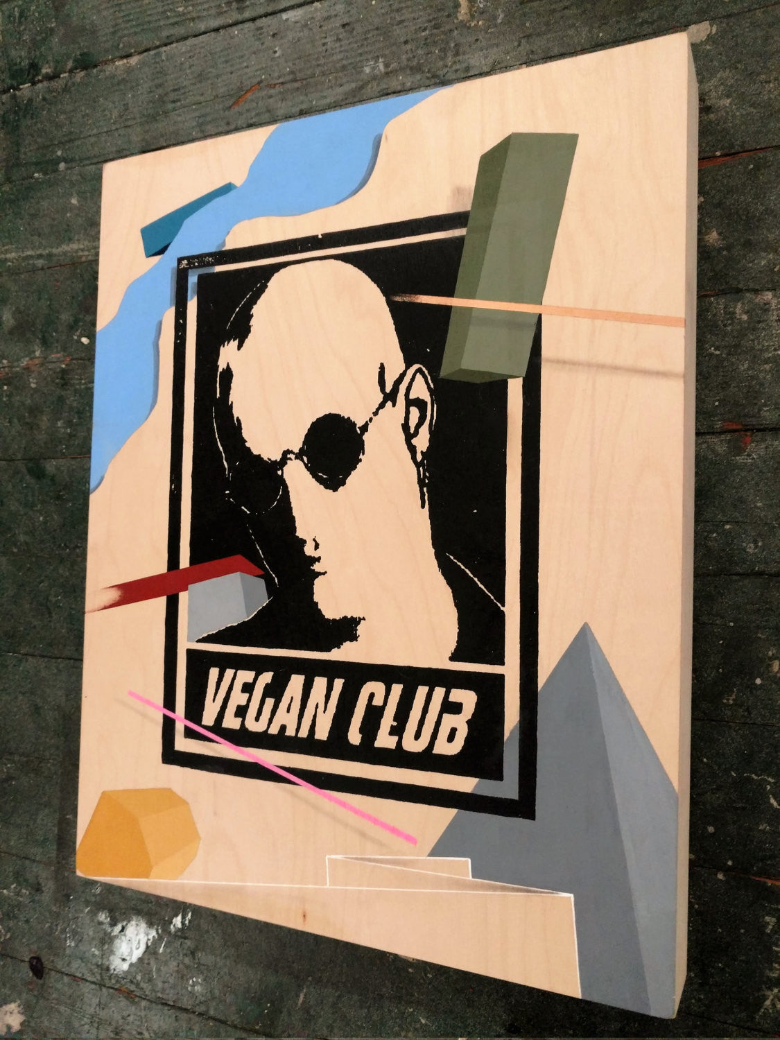 "11x14 Original Artwork Collab w David Acuna @itsacuna ""Vegan Club"" feat Woody Harrelson"