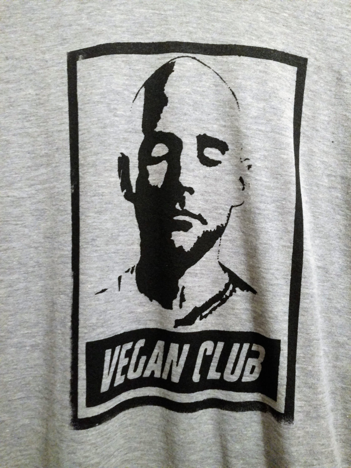 "Unisex T-shirt ""Vegan Club"" featuring Moby art by LeFou"