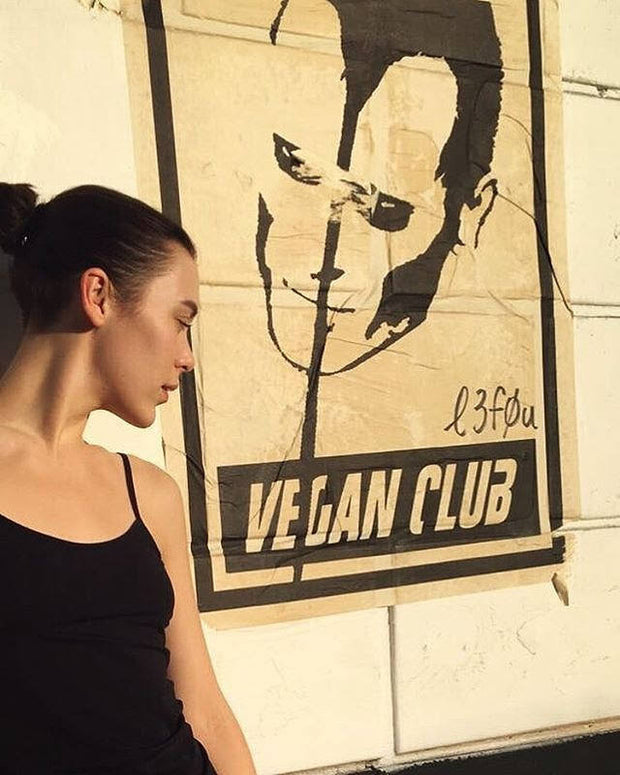 NewsPrint Poster Vegan Club feat. the Misfits Doyle Wolfgang