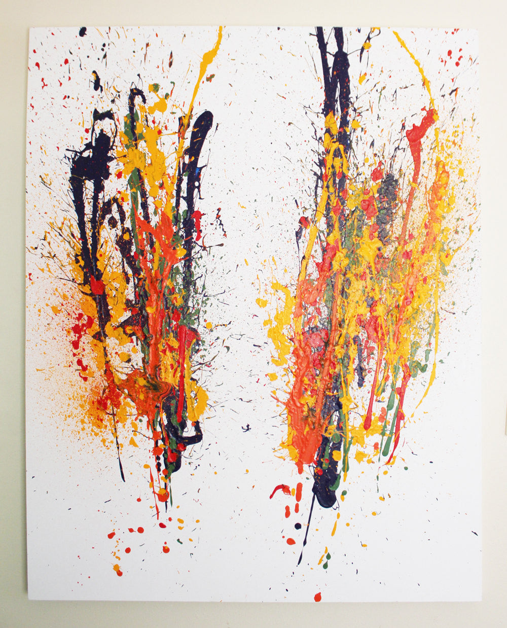 "48x60 Original Abstract Artwork on canvas ""9/11"""