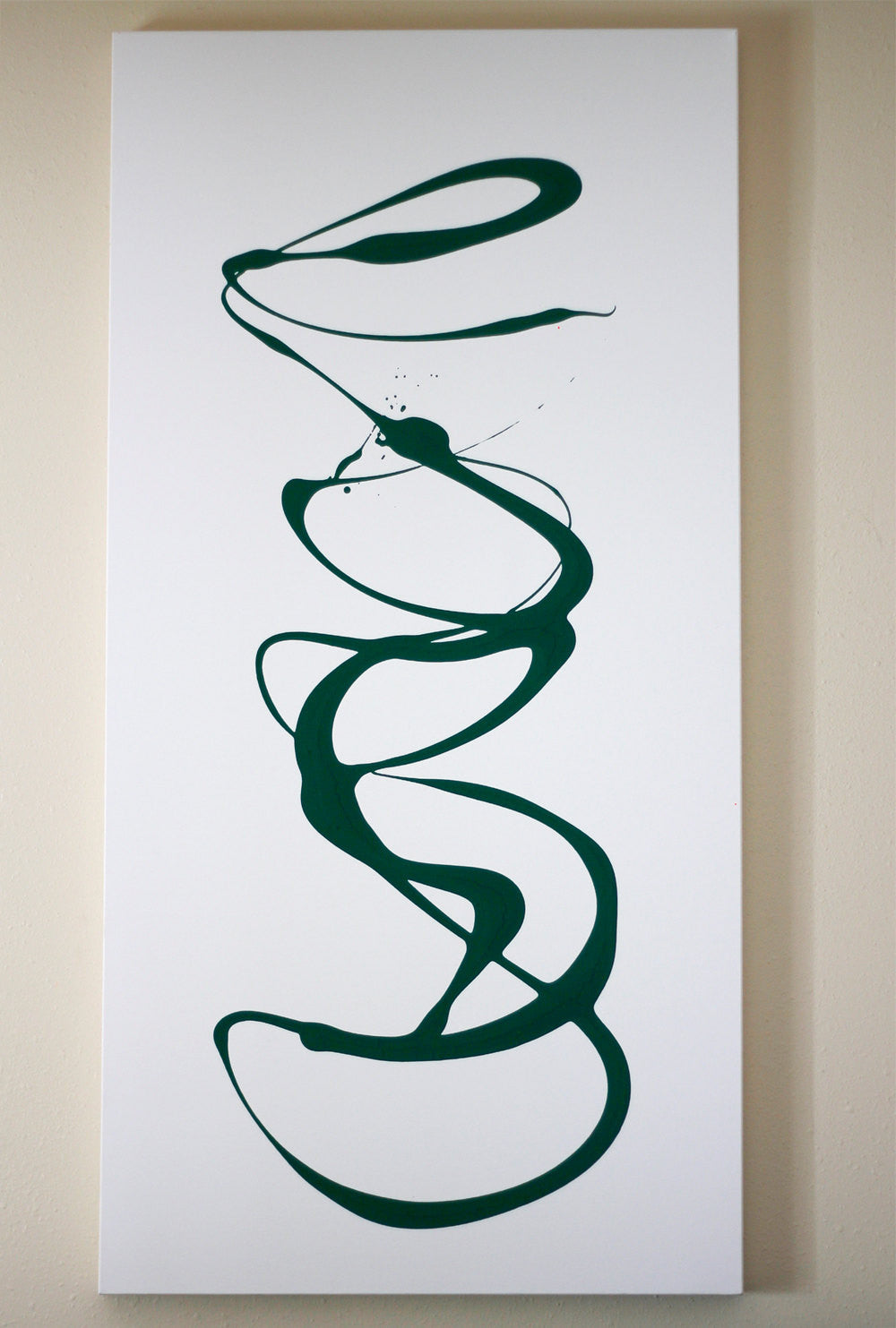 InfinI - original abstract art painting with green colors