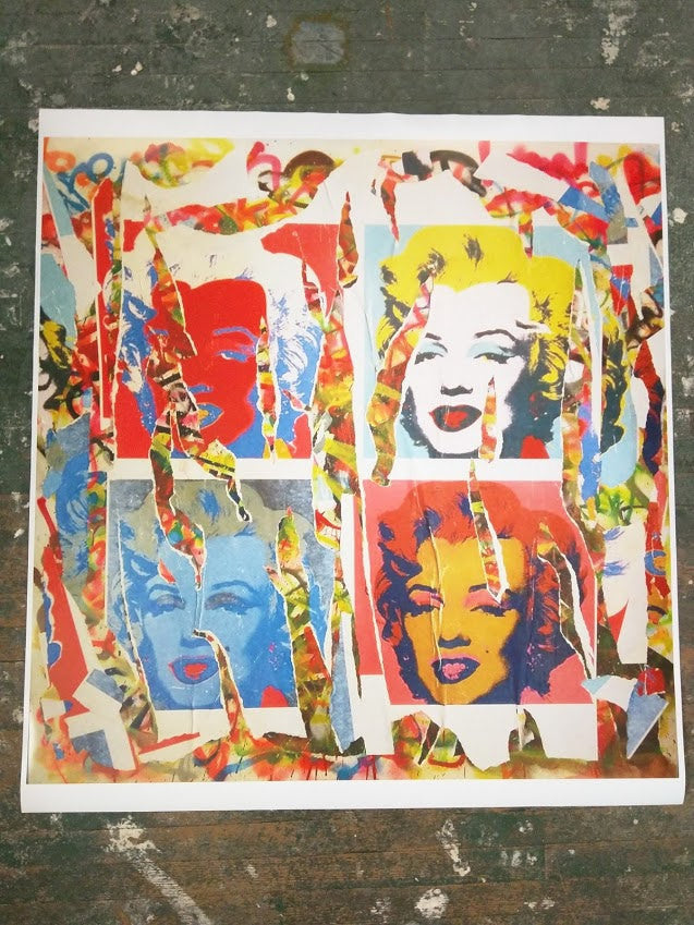 Limited Edition of 150 Print of Artwork Marilyn Signed L3f0u
