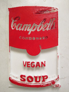 3D printed Campbell's Vegan Hand Painted Red & White Soup by L3f0u