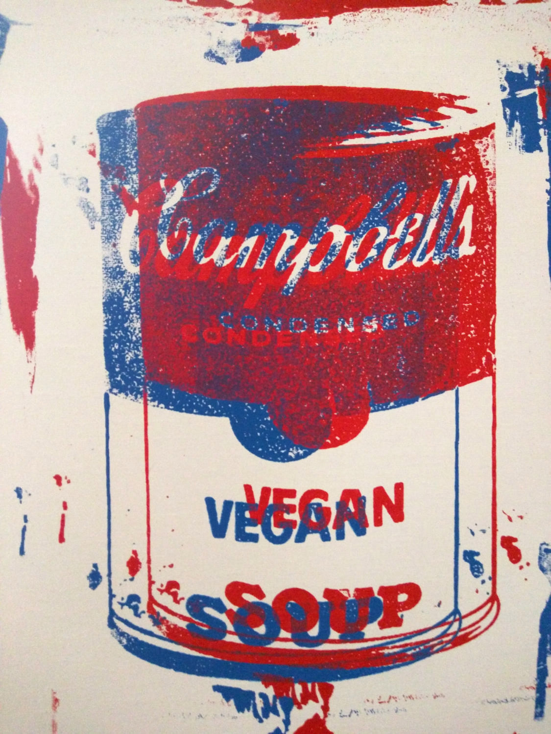 3D Campbell's Vegan Soup Canvas  20x16 by L3f0u