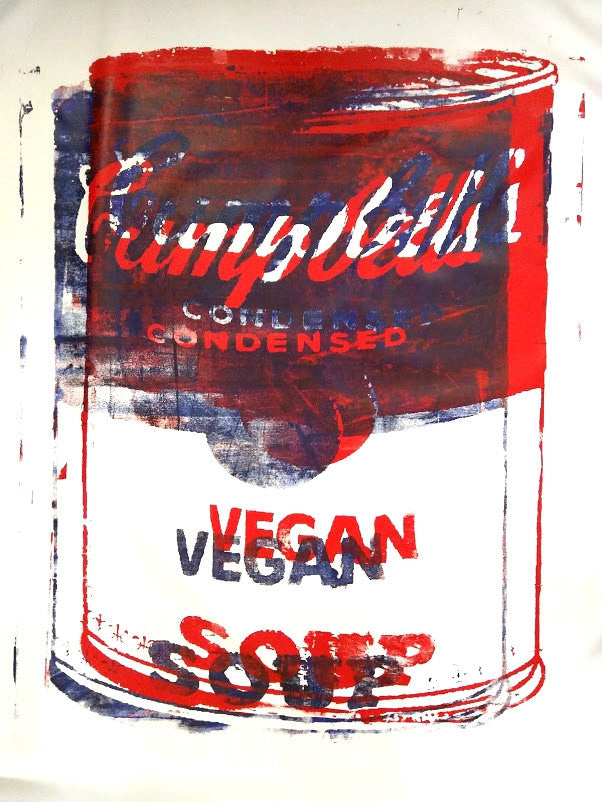 3D Campbell's Vegan Soup Canvas Bleu Blanc Rouge (Blue White & Red) 56x72 by L3f0u