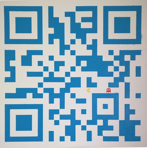 48x48 Original Artwork Pac-Man - QR Code White/Blue