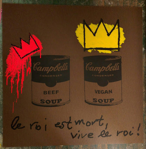 "48x48 Original Artwork ""Le roi est mort, vive le roi"" (the king is dead, long live the king) vegan art by L3F0u"