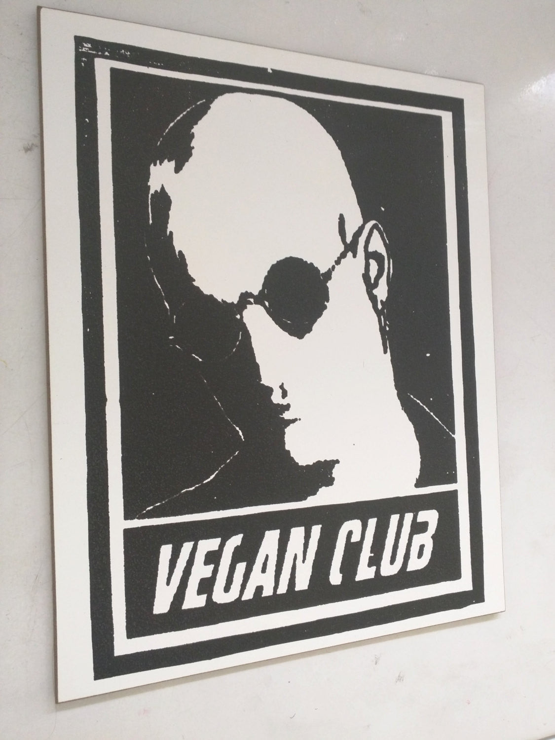 "Limited Edition 1 of 150 Original Artwork ""Vegan Clube"" featuring Woody Harrelson Signed on back L3f0u 8x10"