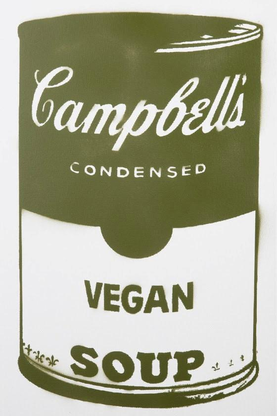 Campbell's Vegan Soup on canvas - Green 12x24