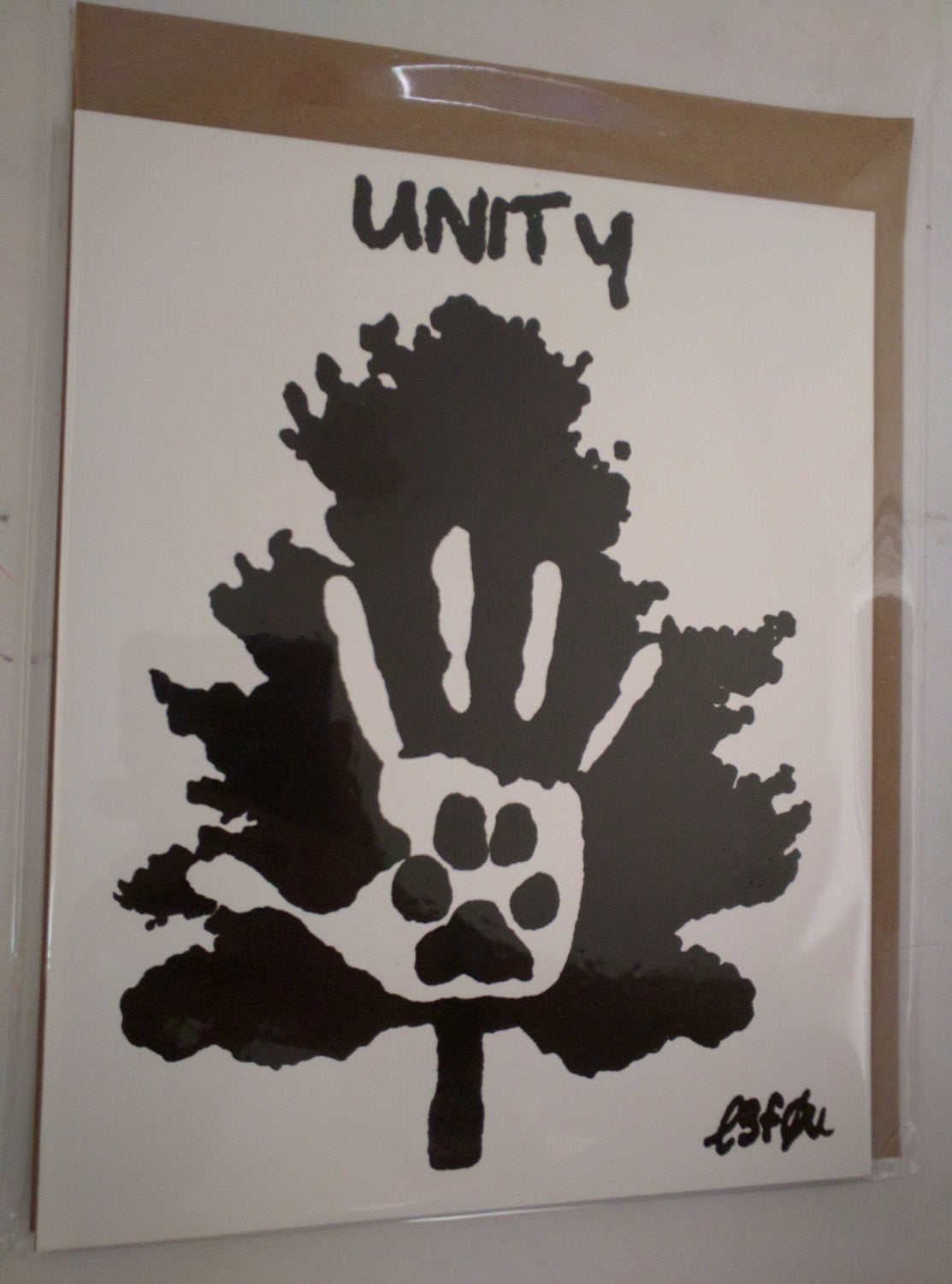 "Limited Edition of 150 10x10 on Gessobord of Artwork ""Unity"" (the movie) from Shaun Monson Signed L3f0u"