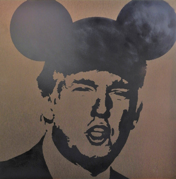 "Limited Edition of 150 Print of Artwork ""Operation Mickey Mouse"" featuring Donald Trump by L3F0u"
