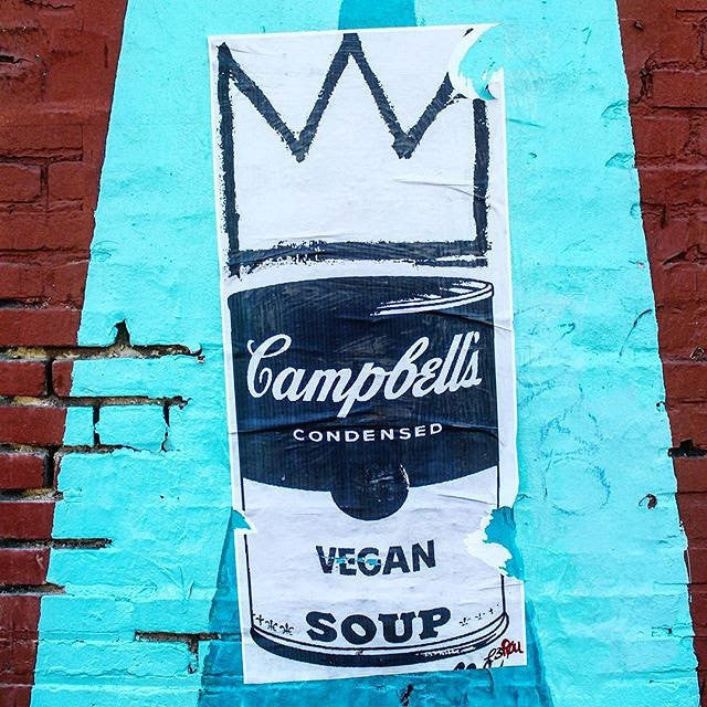 NewsPrint Poster Vegan Soup feat. Warhol & Basquiat
