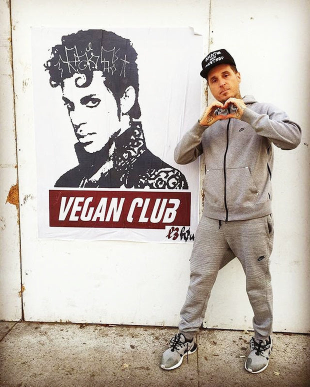 NewsPrint Poster Vegan Club Prince