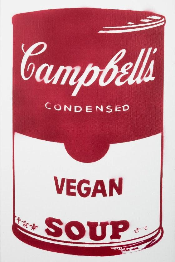 Campbell's Vegan Soup on canvas - Red 12x24