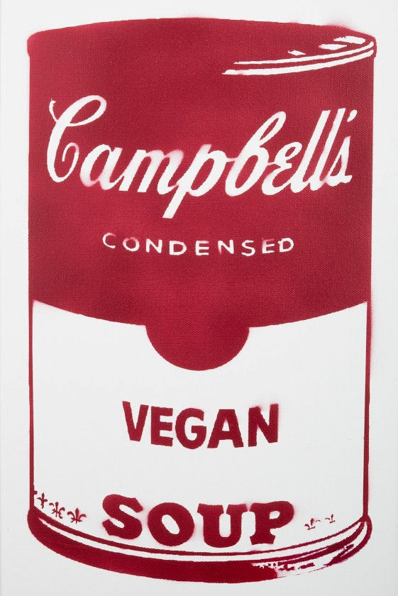 Limited Edition Print of Red Campbell's Vegan Soup Signed L3f0u