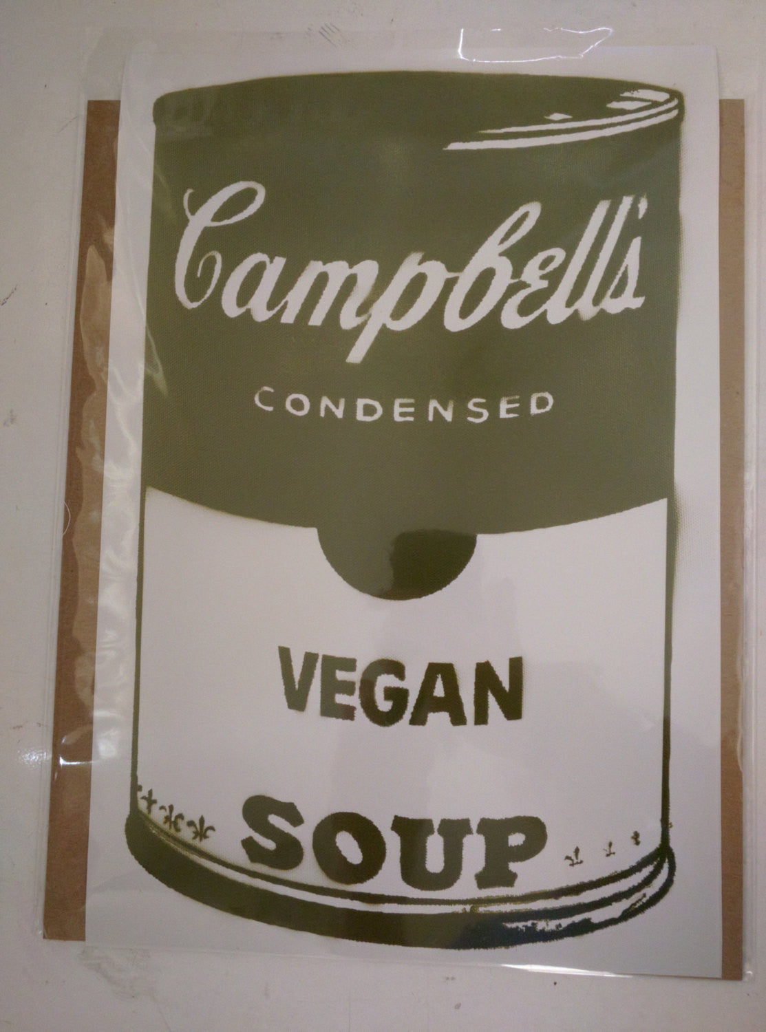 Limited Edition Print of Green Campbell's Vegan Soup Signed L3f0u