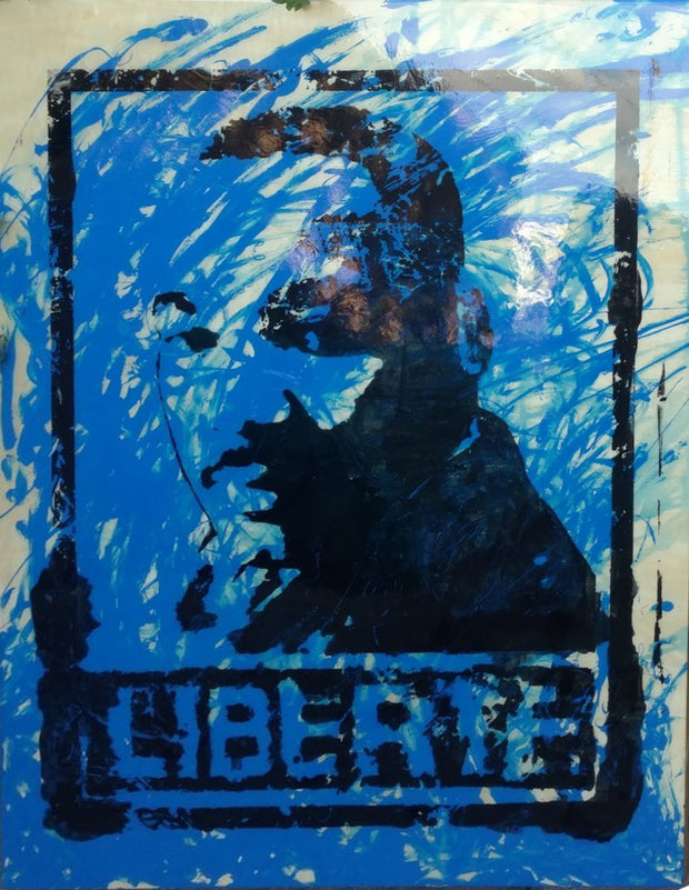 SOLD - 30x40 Original Artwork Liberte (Freedom) featuring MLK Martin Luther King signed Le Fou