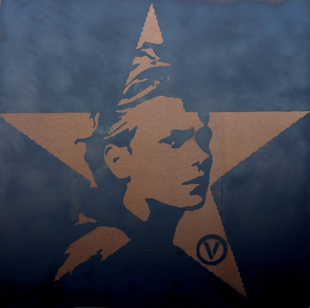 48x48 Original Artwork Vegan Black Star featuring River Phoenix