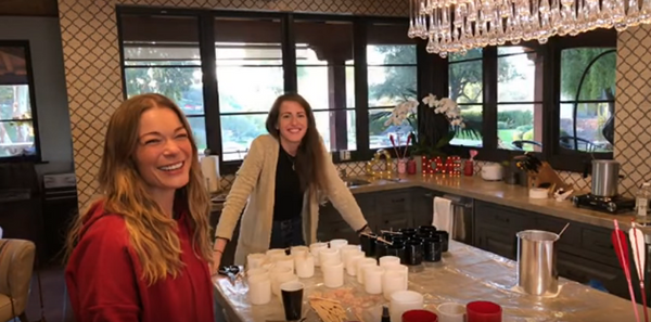 Making Candles with LeAnn Rimes!