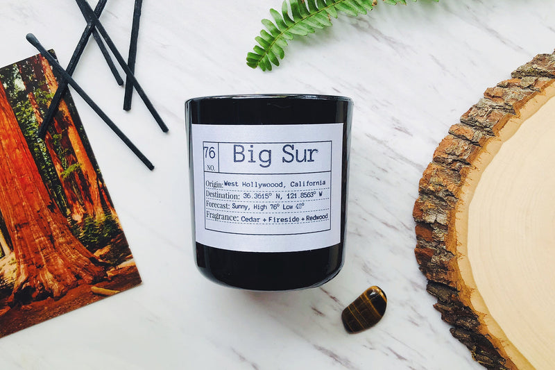 Big Sur Soy Candle, Slow Burn Candle