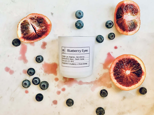 FLORES LANE x MAX: Blueberry Eyes Soy Candle, Slow Burn Candle