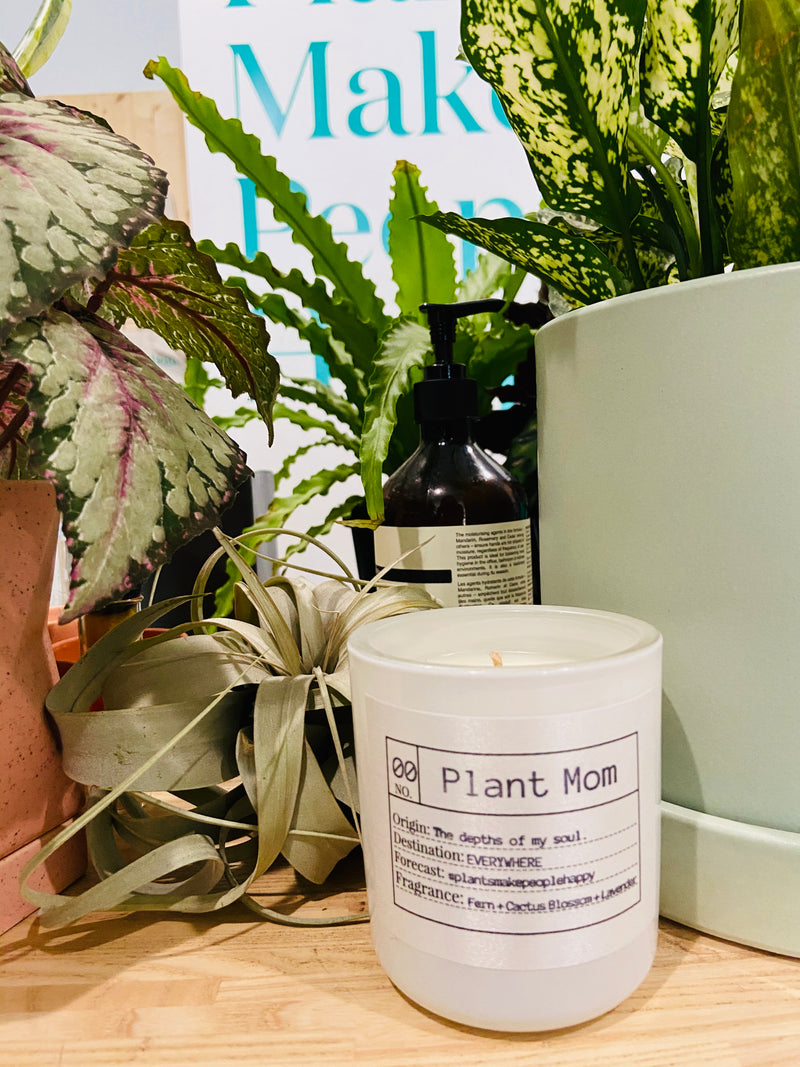 Plant Mom Soy Candle, Slow Burn Candle