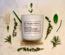 Thyme Heals...All Wounds. Soy Candle, Slow Burn Candle