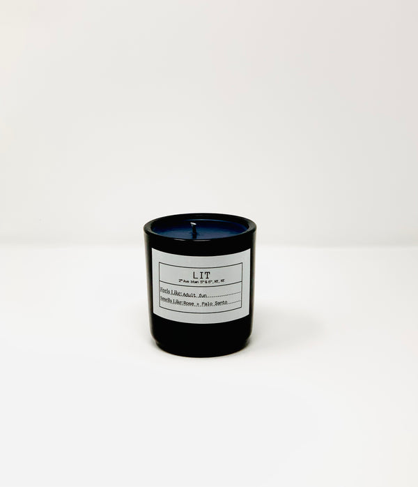 LIT LOUNGE MMITB X FLORES LANE Soy Candle, Slow Burn Candle