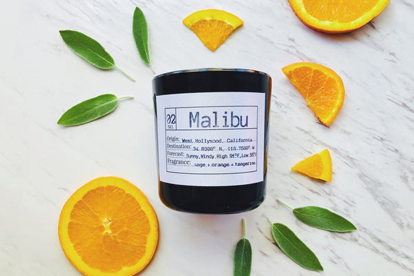 Malibu Soy Candle, Slow Burn Candle