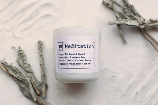 Meditation Soy Candle, Slow Burn Candle