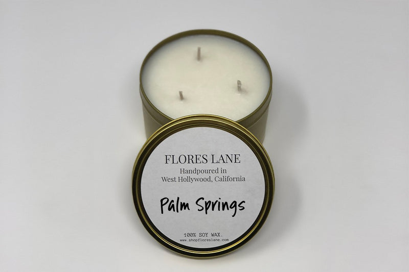3 wick Palm Springs is a destination in the Sonoran Desert that's full of midcentury modern architecture, hotels, and shopping. The blend is of essential oils including Cactus Blossom + Neroli and top notes of Jasmine that leave you with the airy desert vibe.