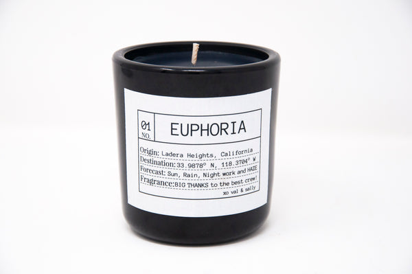 If you're not watching EUPHORIA on HBO, you should stop what you're doing right now and tune in. We were so honored to do the Cast and Crew gifts using our weho scent in black on black.