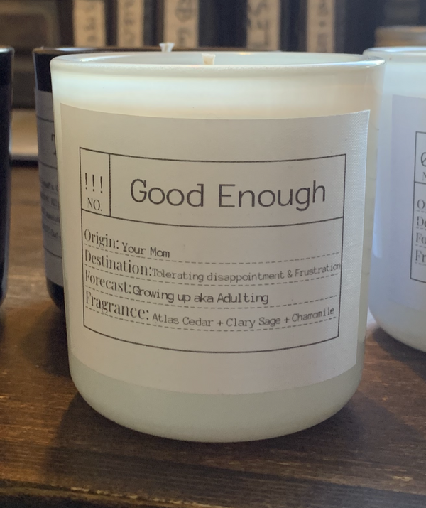 Good Enough Soy Candle, Slow Burn Candle