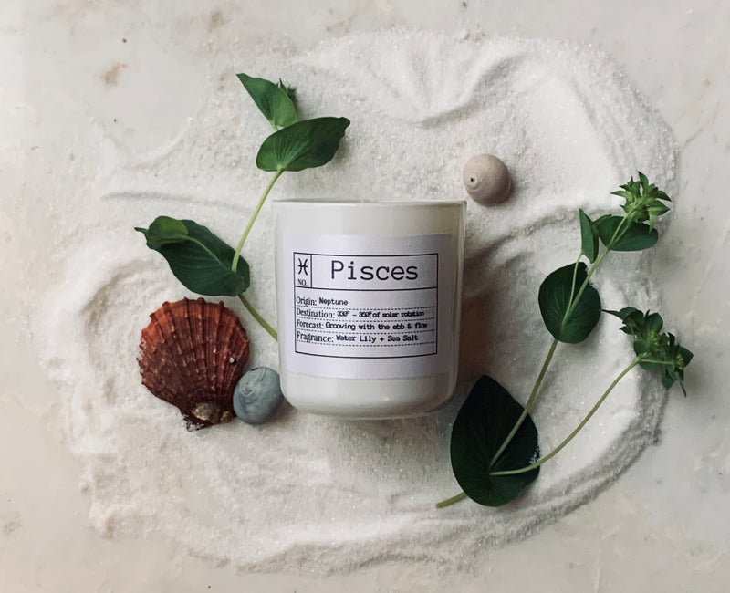Pisces Soy Candle, Slow Burn Candle