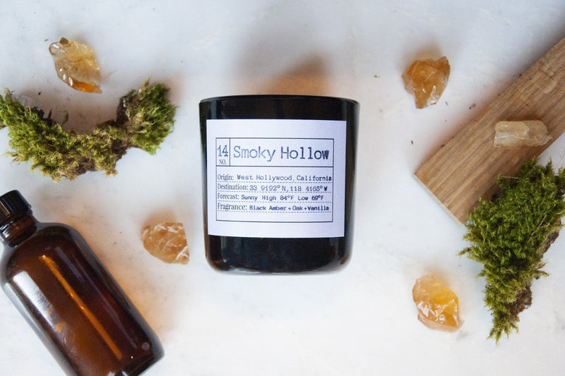 Smoky Hollow Soy Candle, Slow Burn Candle