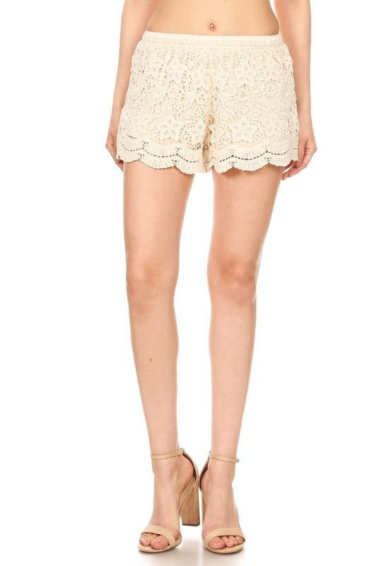 Crochet Scaloped Lace Shorts - Strong Confident You